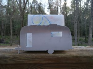 This Napkin Holder Has A Vintage Airstream Silhouette It Measures 10 Long By 25 Wide Including Shipping